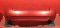 Калина седан бампер задний красный с брызговиками